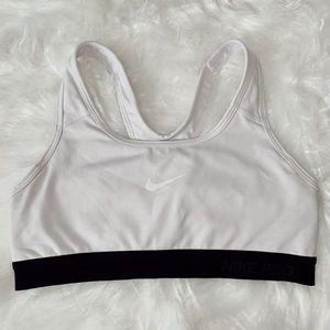 Nike White Sports Bra